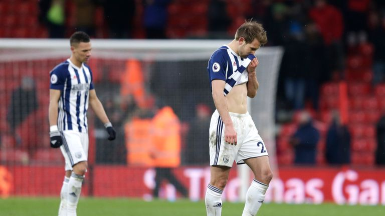 Defeat to Bournemouth left West Brom 10 points from safety