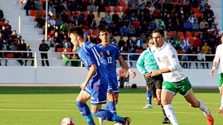 Crystal Palace youngster Will Donkin in action for Chinese Taipei [Credit: CTFA]