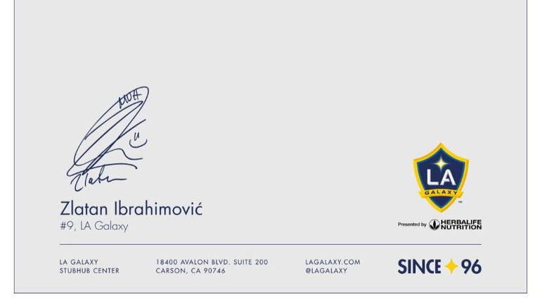 Ibrahimovic signed the advert ahead of his expected move to LA Galaxy