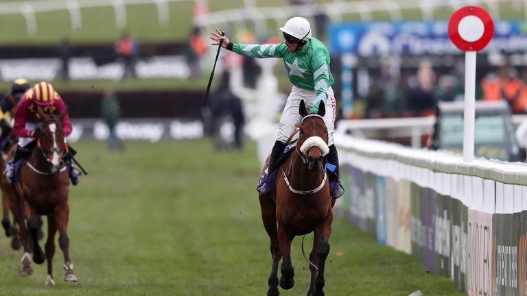 Presenting Percy wins at the Cheltenham Festival for the second successive year.