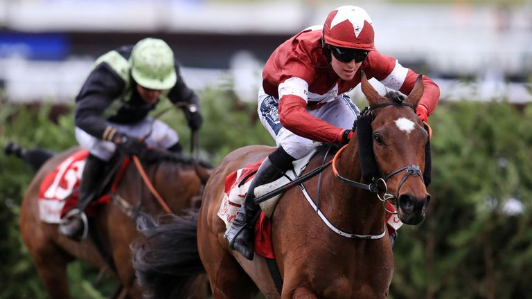 Tiger Roll powers to a third successive Cheltenham Festival win