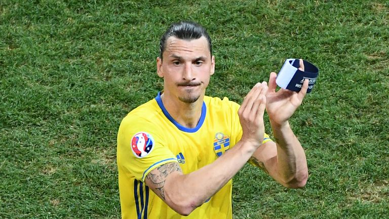 Zlatan Ibrahimovic retired from international football after Euro 2016