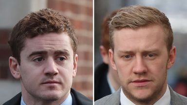 Ex-Ulster duo Paddy Jackson (left) and Stuart Olding