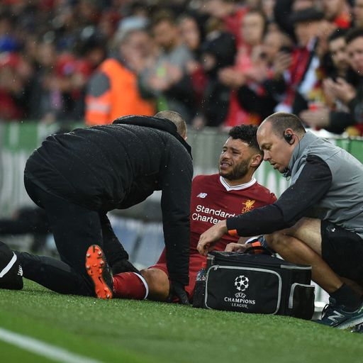 Ox stretchered off against Roma