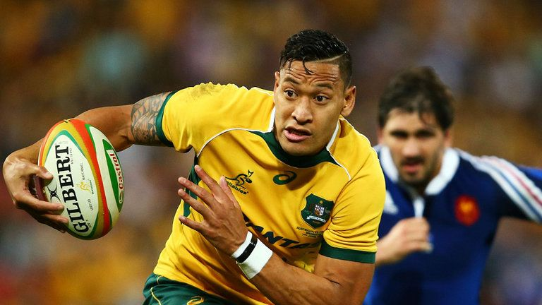 "Israel Folau says ""he has no problem with gay people"""