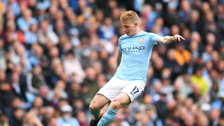 Manchester City's Kevin De Bruyne topped the Power Rankings chart for the majority of the season