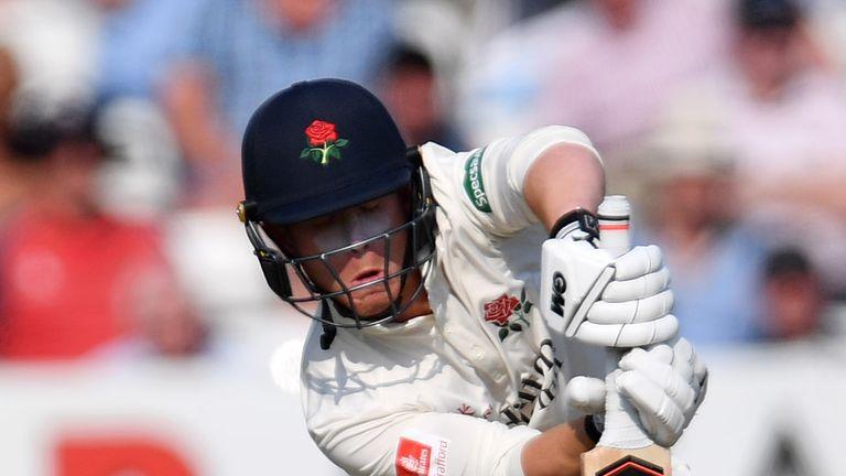 Alex Davies hit a hundred for Lancashire against Hampshire