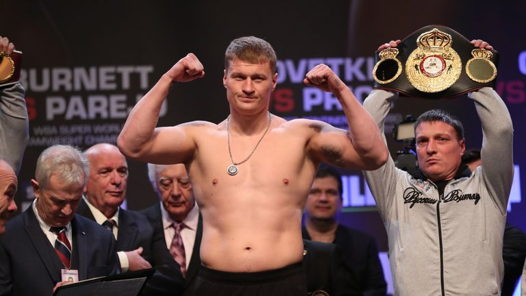 Alexander Povetkin is the mandatory challenger for Joshua's WBA 'super' belt