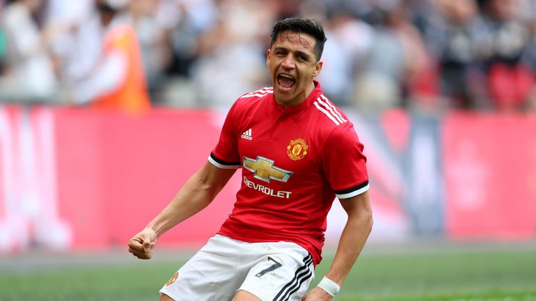 Alexis Sanchez is set to face former club Arsenal on Sunday