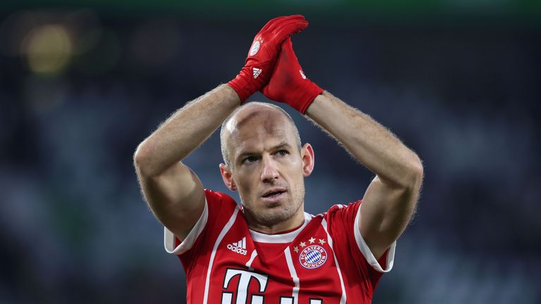 Robben has won seven Bundesliga titles with Bayern Munich