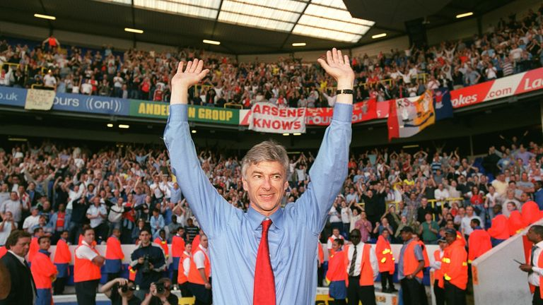 Arsene Wenger's Invincibles clinched the title at White Hart Lane