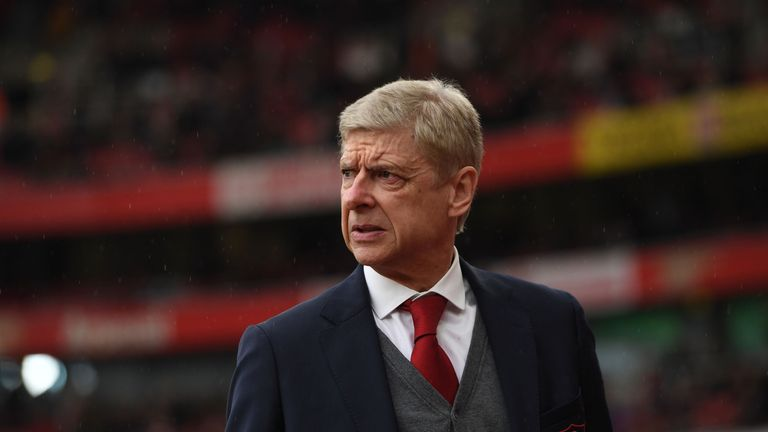Arsene Wenger during the Premier League match between Arsenal and Southampton at Emirates Stadium on April 8, 2018