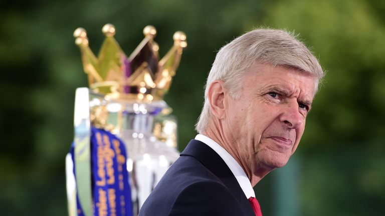 Wenger won seven FA Cups and three Premier League crowns at Arsenal