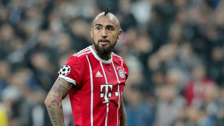 Arturo Vidal during the UEFA Champions League Round of 16 Second Leg match Besiktas and Bayern Muenchen at Vodafone Park on March 14, 2018 in Istanbul, Turkey.