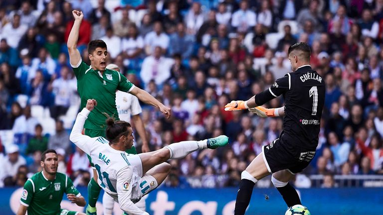 Bale swivelled to score inside eight minutes at the Santiago Bernabeu