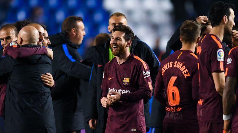Lionel Messi Barcelona title win la liga