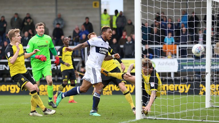 Assombalonga headed home from close range to steal a point for the visitors