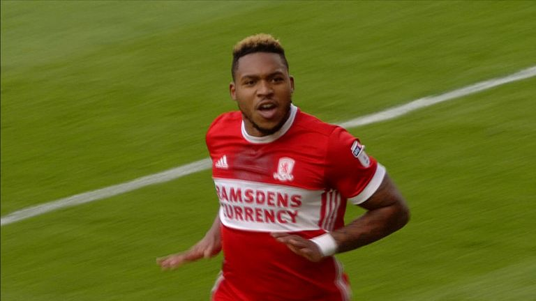 Britt Assombalonga gives Middlesbrough an early lead at home to Millwall