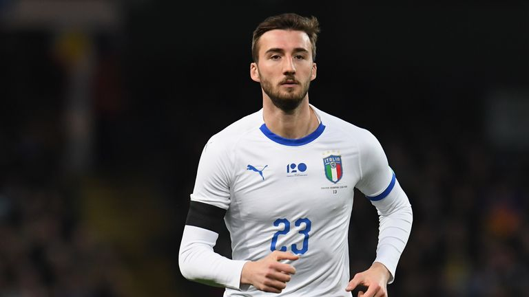 Bryan Cristante of Italy in action during the International friendly match between Italy and Argentina at Etihad Stadium on March 23, 2018 in Manchester, England