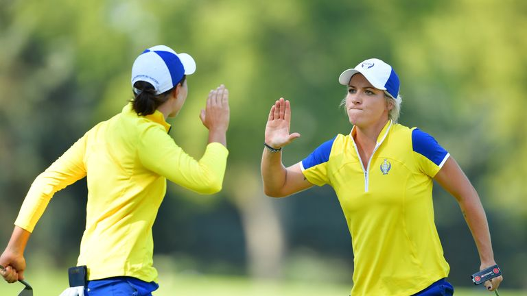 Reid and Ciganda have played alongside eachother in the past two Solheim Cups