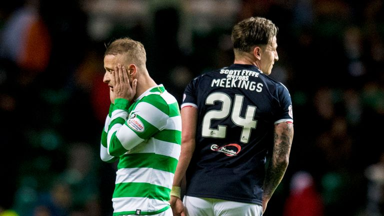 Celtic's Leigh Griffiths crafted a late chance that was not taken