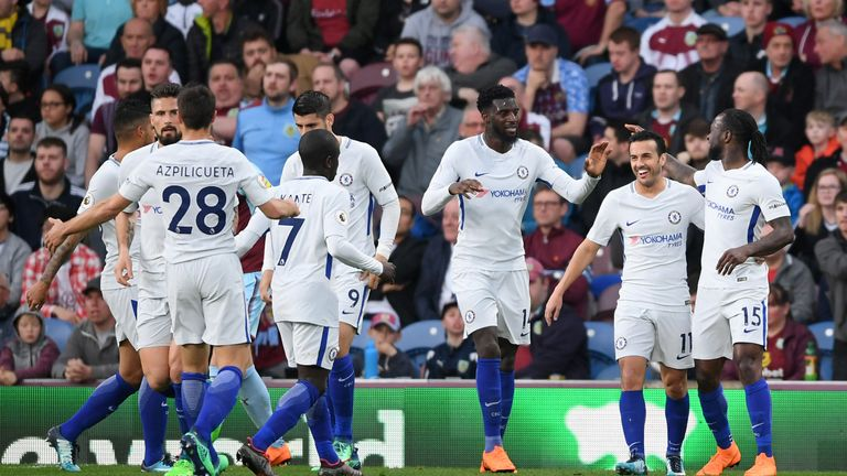 Pedro celebrates after Kevin Long's own goal
