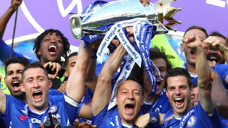 Chelsea lifted the Premier League trophy at the end of the 2016/17 season