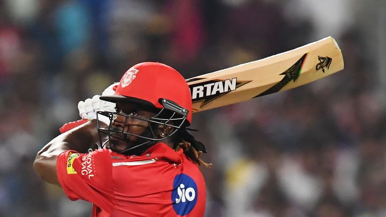 Chris Gayle's half century for Kings XI Punjab came in a losing cause (Credit: AFP)
