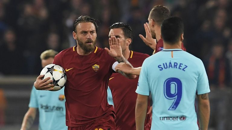 Roma beat Barcelona in their Champions League quarter-final
