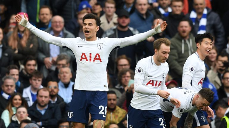 Dele Alli soared up the chart after scoring twice at Chelsea