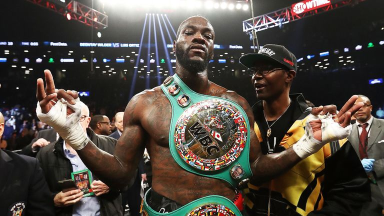 Wilder holds the only world title outside of Joshua's clutches