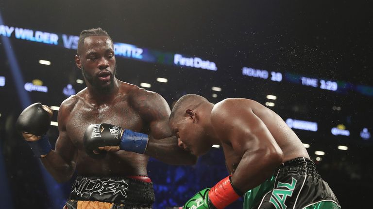 Deontay Wilder says there's nothing on his side to stop a fight with Anthony Joshua from happening next