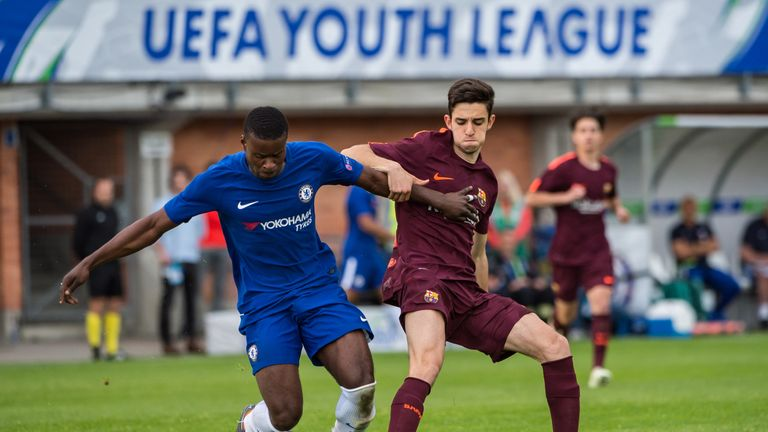 Alejandro Marques scored twice for Barcelona as they beat Chelsea in the UEFA Youth League final