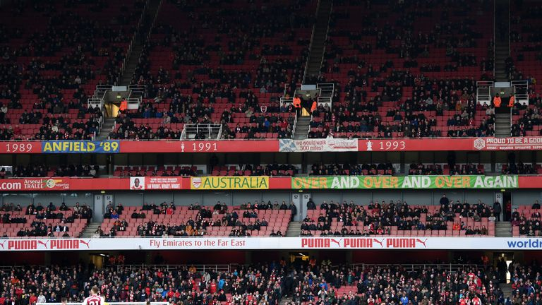 during the Premier League match between Arsenal and Watford at Emirates Stadium on March 11, 2018 in London, England.