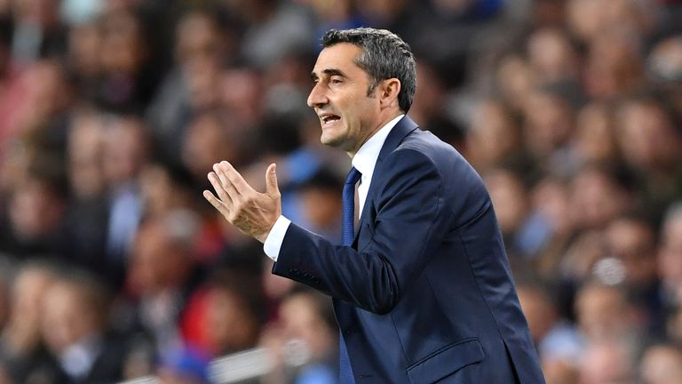Ernesto Valverde's hopes of a treble in his first season at Barcelona remains on course