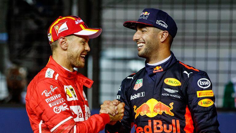 5fb9c30716 Daniel Ricciardo  Sebastian Vettel not running scared of me