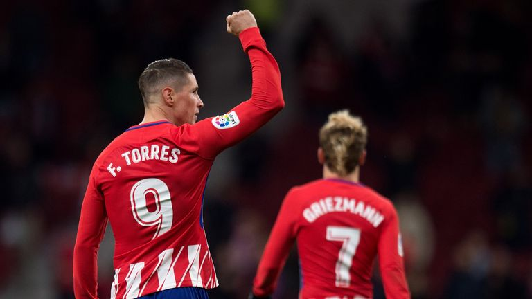 Fernando Torres scored on his first appearance since announcing he will leave Atletico in the summer