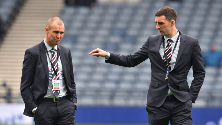 Kenny Miller (left) with Lee Wallace