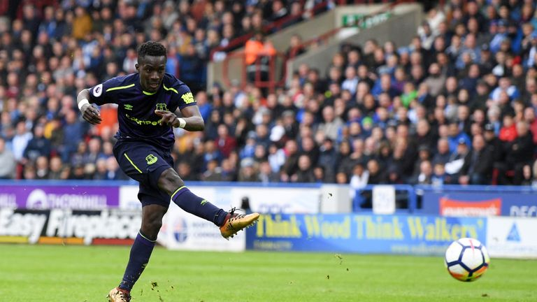 Idrissa Gueye scored Everton's second goal against Huddersfield