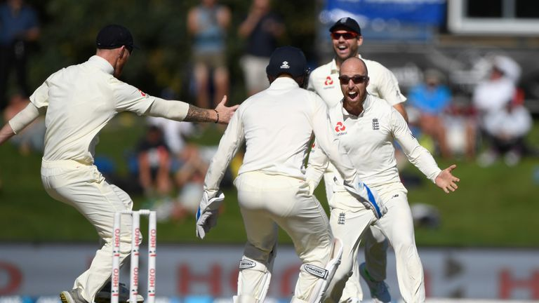 Jack Leach dismissed Tom Latham and Ross Taylor on his Test bow