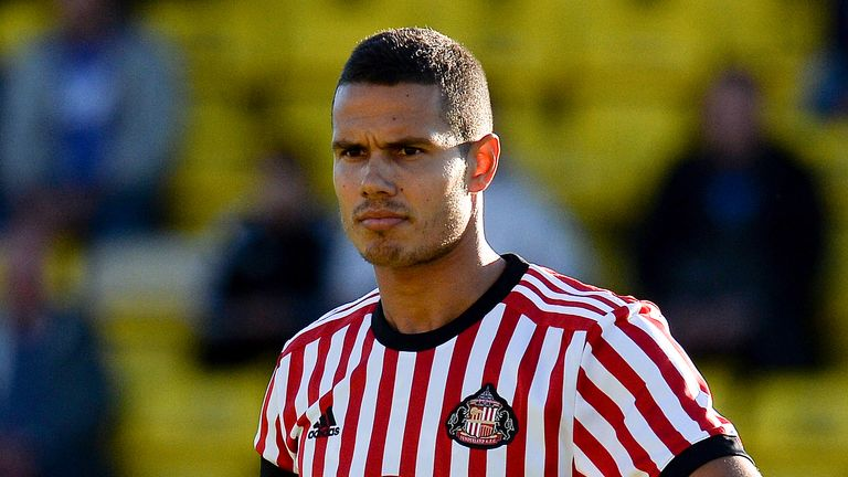 Jack Rodwell in action during the pre-season friendly between Livingston and Sunderland at Almondvale Stadium on July 12, 2017