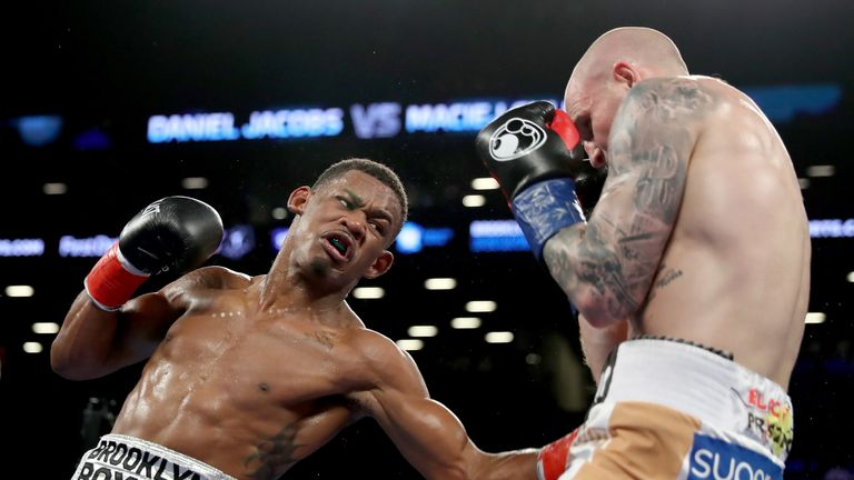 Daniel Jacobs' last outing was a slick win over Maciej Sulecki in April