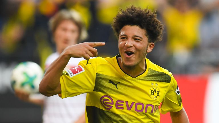 Jadon Sancho, Dortmund v Leverkusen