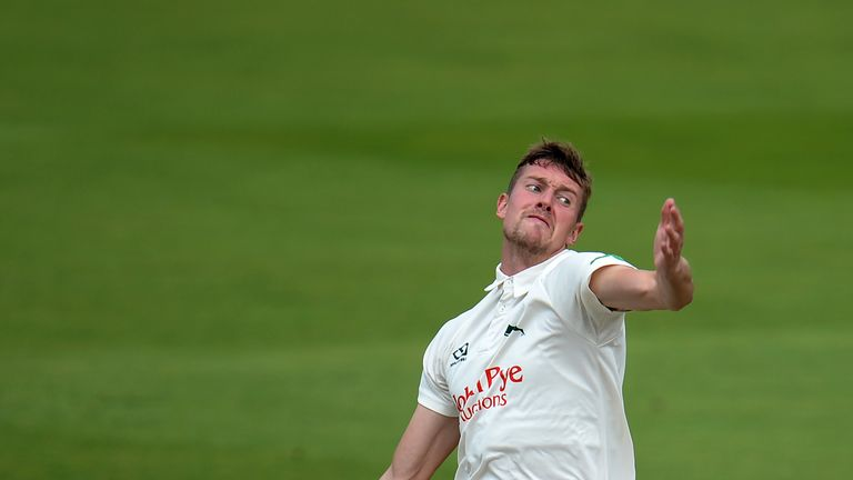 Jake Ball dismissed Haseeb Hameed during his five-wicket haul at Old Trafford