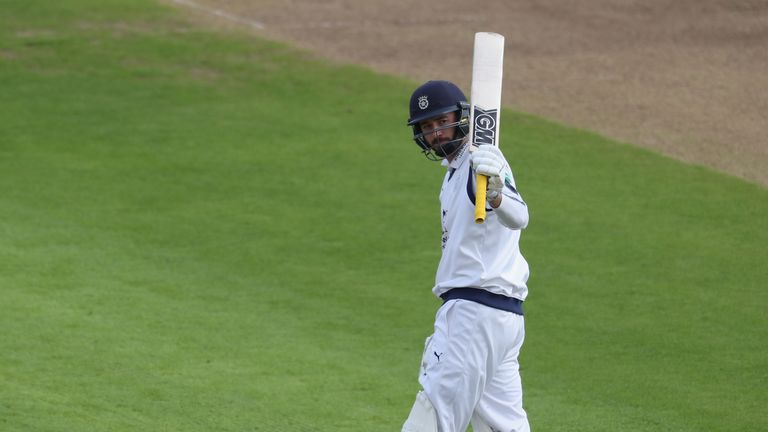 James Vince hit a half century for Hampshire on day one against Worcestershire