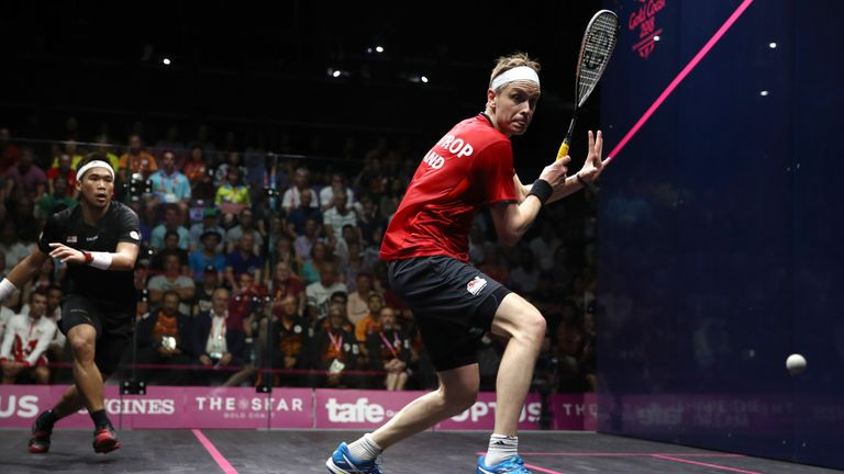 James Willstrop won gold in the men's squash singles