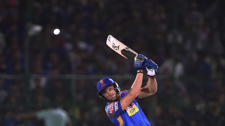 Rajasthan Royals' Jos Buttler is one of seven England players who could be in IPL action on Sunday (Credit: AFP)