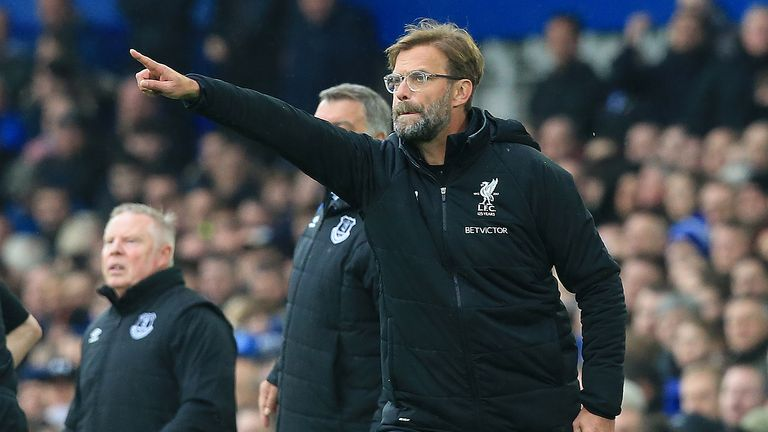 Jurgen Klopp gives his side instructions from the touchline