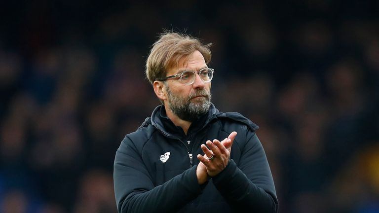 Jurgen Klopp during the Premier League match between Everton and Liverpool at Goodison Park on April 7, 2018
