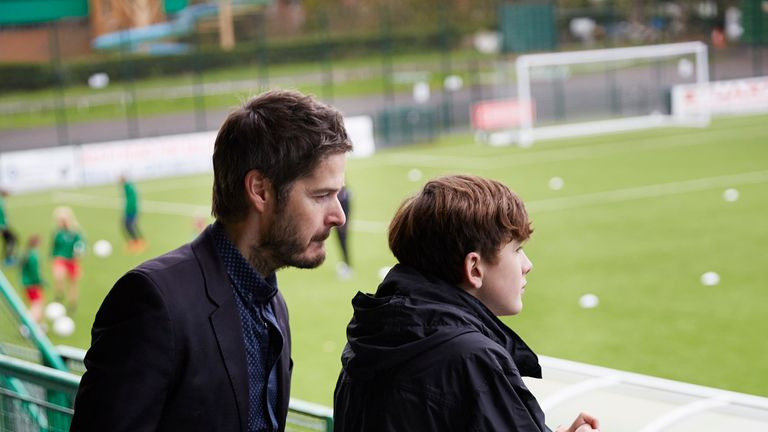 Paul (Scot Williams) and Charlie (Harry Gilby) in a scene from 'Just Charlie'